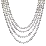 HinsonGayle AAA Handpicked White Freshwater Cultured Pearl Rope Necklace 82