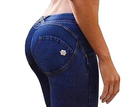 Amazon.com: Fubotevic - Pantalón vaquero para mujer, con ...