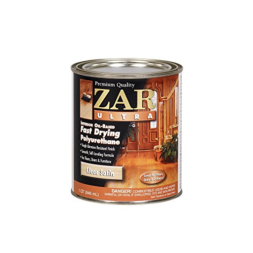(ZAR 32912 Zar Ultra Polyurethane Clear Interior Wood Finish, Satin - Quart)
