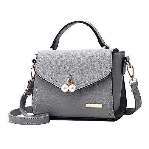 FLHT PU Bag Summer Mini Fashion Bag Messenger Bag Shoulder Party Ms Bag Grey Bag Simple 5qw4rq0xA