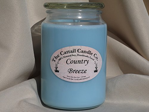 Cattail Candle (Country Breeze - 100% Soy Candle, 24 fl oz)