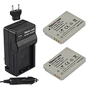 Newmowa NB-5L Battery (2-Pack) and Charger kit for Canon NB-5L and Canon PowerShot S100, S110, SD700 IS, SD790 IS, SD800 IS, SD850 IS, SD870 IS, SD880 IS, SD890 IS, SD900 IS, SD950 IS, SD970 IS, SD990 IS, SX200 IS, SX210 IS, SX220 IS, SX230 HS