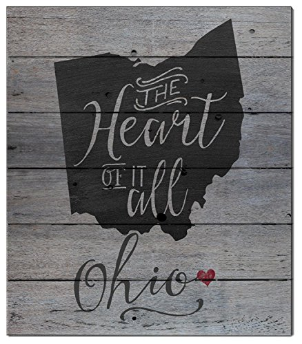 "Kindred Hearts 12""x13.5"" Ohio State Slogan Pallet Board Wall Art"