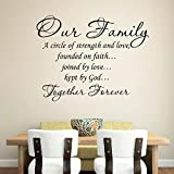 Changeshopping(TM)Our Family a Circle of Strength and Love Wall Sticker Decal Home Decor
