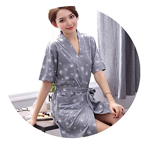 Robe Women's Shorts Bathrobe Plus Size Robe Women Kimono Floral Cotton Peignoir,Acid,XXXL ()