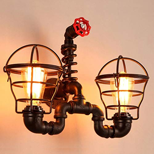 XQY Hotel Cafe Living Room Bar Wall Lamp, Wall Decoration Lamps, Retro Wall Lamp Industrial Style Water Pipe Wall Lamp Creative Coffee Shop Restaurant Wall Lamp Bar Gear Trim Wall Lamp
