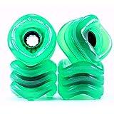 Shark Wheel 1000S70MMS78ATG Longboard Wheels, 70mm, Transparent Green, Sidewinder Formula