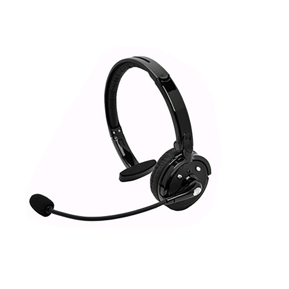 yunbox299 Earphone Headset Headphone, Noise-Canceling Over Head Boom Wireless Bluetooth Mic Headset for Trucker Driver Black by yunbox299 (Image #3)