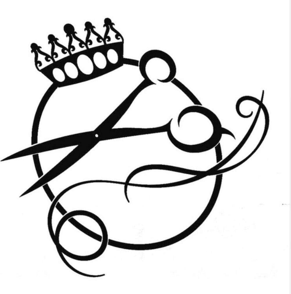 Pegatina del vehículo sticker de carro 15.3 cm * 14.8 cm lindo tijeras logotipo corte de pelo salón de vinilo 2 piezas: Amazon.es: Bricolaje y herramientas