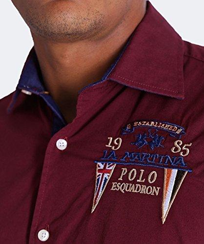La Martina Men's Embroidered Henerson Shirt XL Port