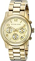 Michael Kors Watches Gold Chronograph Runway Watch