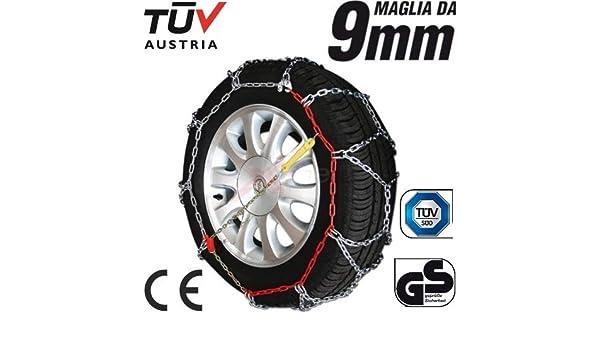 235/60 - 14 Cadenas de Nieve con Grosor de 9 mm para neumáticos Ruedas de Coche homologadas tuv GS: Amazon.es: Coche y moto