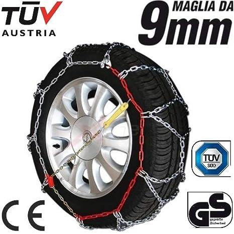 205/65 - 16 Cadenas de Nieve con Grosor de 9 mm para neumáticos Ruedas de Coche homologadas tuv GS: Amazon.es: Coche y moto