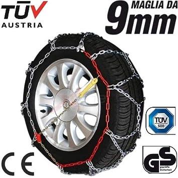 175r16 Cadenas para Coche neumáticos Ruedas Gomas de Nieve Camiseta 9 mm homologadas tuv GS: Amazon.es: Coche y moto