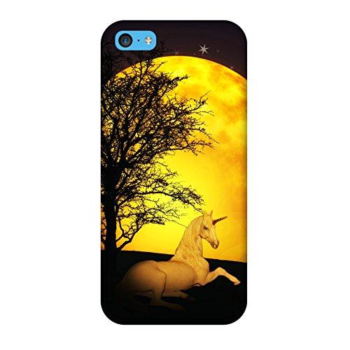 Coque Iphone 5c - Licorne Lune Solaire