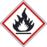 GHS200AP National Marker Ghs Label, Flame, 2 Inches x 2 Inches, Ps Vinyl, Pak5 (Pack of 5)