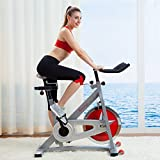 Indoor Exercise Cycling Bike Upright Pro Model Top Seller- This Beautiful Portable Fitness Machine Will Melt Away Calories Fat Like Butter- Quiet Smooth Chain Drive Makes Spinning Simple Eassy and Fun
