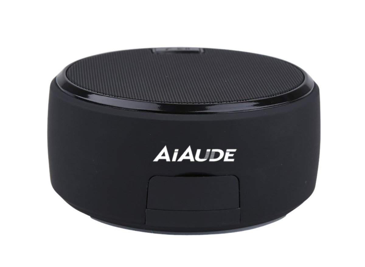 AiAude Portable Wireless Bluetooth V4.2 Mini Speaker with Microphone and Aux Input for Phone and Laptop (Black)