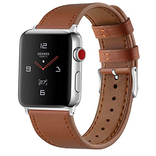 Fine Compatible Apple Watch Series 1/2/3/4 38/40mm Leather Band Suede Deluxe Leather Denim Bracelet Watch Strap (J)