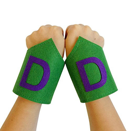 [So Sydney Superhero or Princess WRIST BANDS Kids Childrens Toddler, Boy, Girl (TMNT - Purple] (Baby Girl Marvel Costumes)