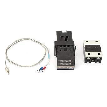 Temperature Controller Kit, AC 110V-240V 0-1300℃ Alarm Digital LED