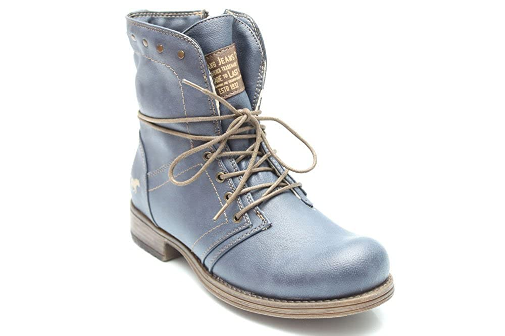 best service 342f6 368a0 F10403Nvy Mustang Womens Lace Up Military Combat Low Heel ...