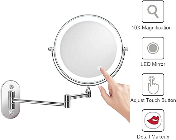 LED Beleuchtet Schminkspiegel Makeup Rasier Spiegel Kosmetikspiegel Vergrößerung