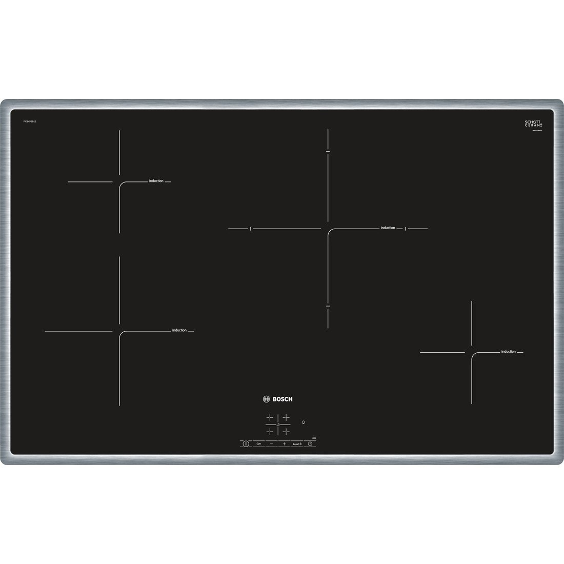 Bosch PIE845BB1E hobs Integrado Con - Placa (Integrado, Con ...