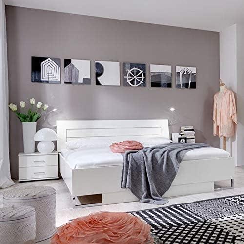Cama doble andara 05, color: blanco – Superficie: 160 x 200 ...