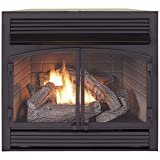 Duluth Forge Dual Fuel Ventless Fireplace Insert - 32,000 BTU, T-Stat...