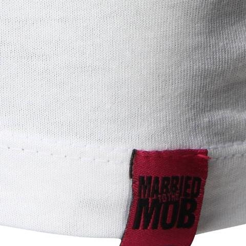 Married To The Mob Women Airbrush Tee white pink