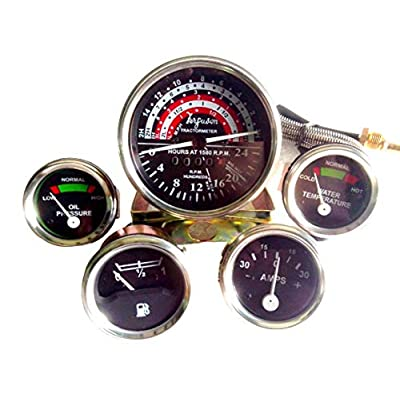 Massey Ferguson Tractor Gauge Kit + Tachometer Anti Clockwise-35 , 133, 135, 140: Car Electronics