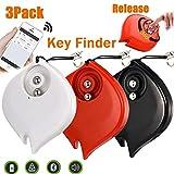 3 Pack Mini Smart Finder GPS Tracker Car Keys Wallet Dogs Cats Pet Light Anti-Lost Key Finder Alarm Locator Lost Keys Handbag APP Control Android iOS Outdoor Home Travel School Office Gifts