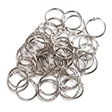 ZXHAO 35mm/1.38 inch Book Ring Metal Split Ring Loose Leaf Binder Rings for Home Car Keys 100pcs