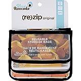 BlueAvocado Zip Seal Snack Bag - Black 3 Bag(S)
