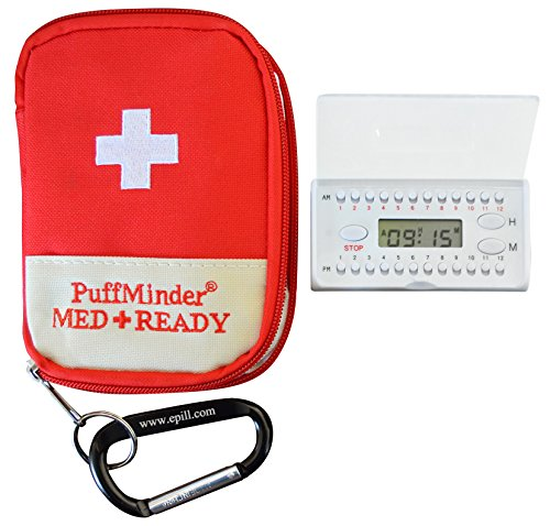 PuffMinder MEDREADY Asthma Maintenance Carrying Case with Medication Reminder