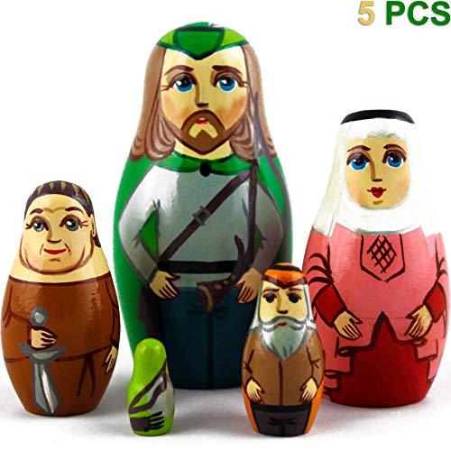 (MATRYOSHKA&HANDICRAFT Robin Hood Toy - Nesting Dolls Robin Hood 5 Pcs)
