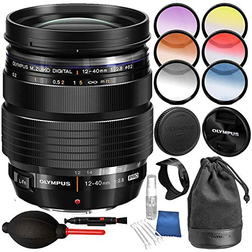 Olympus M. Zuiko Digital ED 12-40mm f/2.8 PRO Lens + 6 Pieces Graduated Color Filter Set and Cleaning ()