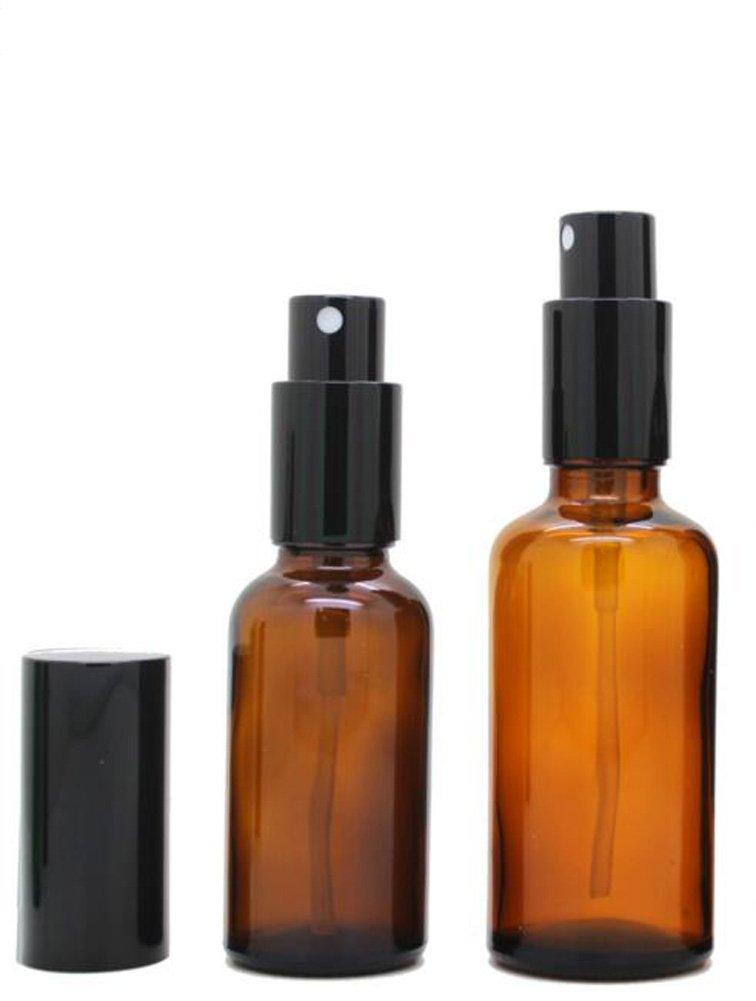 琥珀色ガラス香水用スプレーボトル 空 2個 旅行用 詰替え可能 エッセンシャルオイル アロマセラピー ローション スプレーボトル 小ビン 30ml ブラウン B06XGD3MPX   30ml