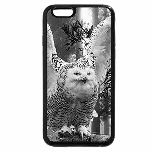 iPhone 6S Plus Case, iPhone 6 Plus Case (Black & White) - BEAUTIFUL OWL