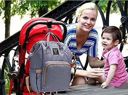 Baby Wickelrucksack Wickeltasche mit Wickelunterlage Multifunktional Wasserdichte MutterschaftOxford Gro/ße Kapazit/ät Babytasche Reiserucksack Langlebig und Stilvoll