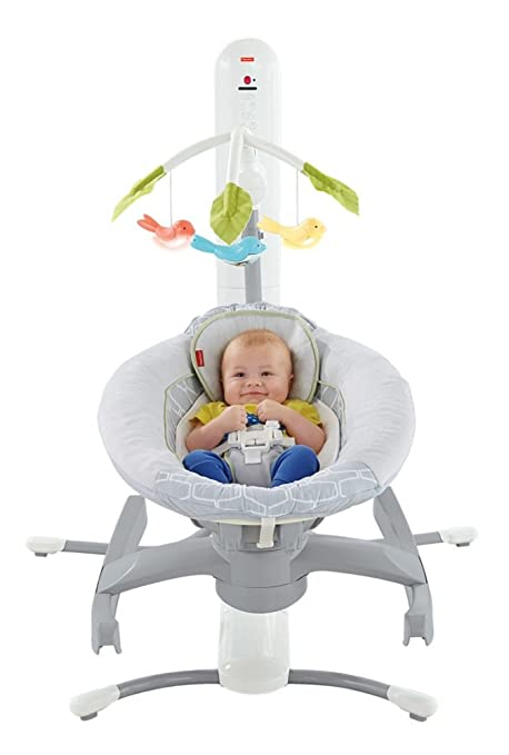83c56bd22 Fisher Price CBV76 Cuna Mecedora 4 en 1 Smart Connect: Amazon.com.mx: Bebé