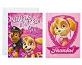 American Greetings Paw Patrol Party Supplies, Invitation and Thank You Card Bundle, (8-Count)
