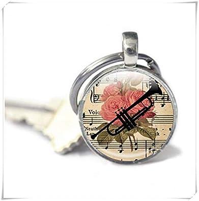 Heng Yuan - Llavero con diseño de Trompeta, Llavero con ...