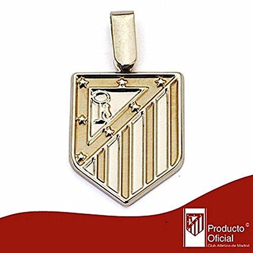 Pendentif Atletico Madrid de loi bouclier 9k 20mm d'or. lisse [6992] - Modèle: 0520-012-L
