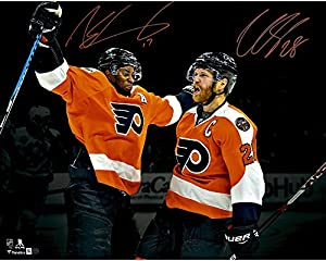 "Claude Giroux and Wayne Simmonds Philadelphia Flyers Autographed 16"" x 20"" Spotlight Photograph - Fanatics Authentic Certified"