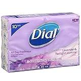 Dial Lavender & Twilight Jasmine Antibacterial Deodorant Soap, 4...