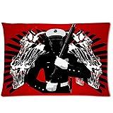USMC Marine With Ka Bar And Skull Shroud Pillowcase,United States Marine Corps Pillowcase,One Side Pillowcase Pillow Cover 20x30 inches by USMC Pillow Case