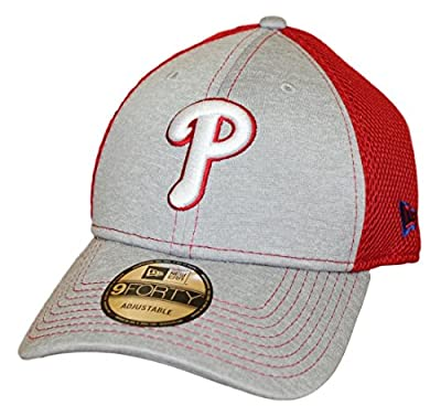 "Philadelphia Phillies New Era 9Forty MLB ""Shadow Turn 2"" Adjustable Hat - Gray by New Era"