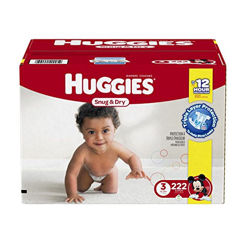Huggies Snug & Dry Diapers, Size 3, 222 Count …